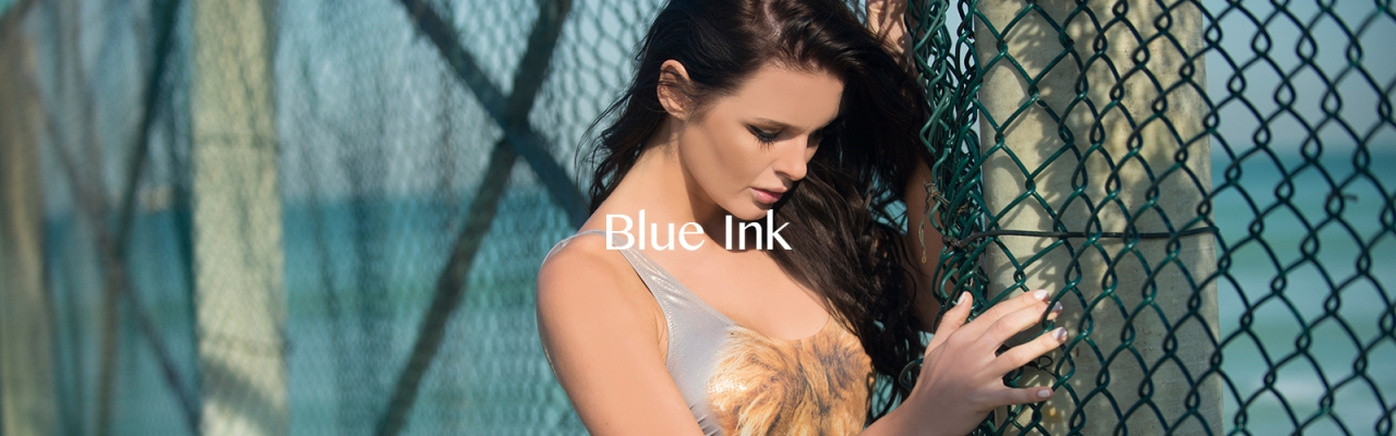 Blue Ink Photo Page