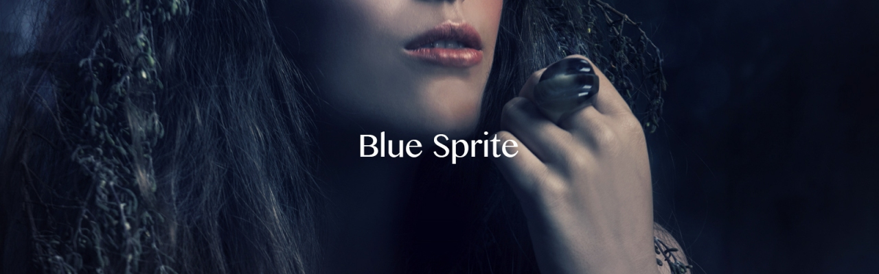 Blue Sprite Header with text